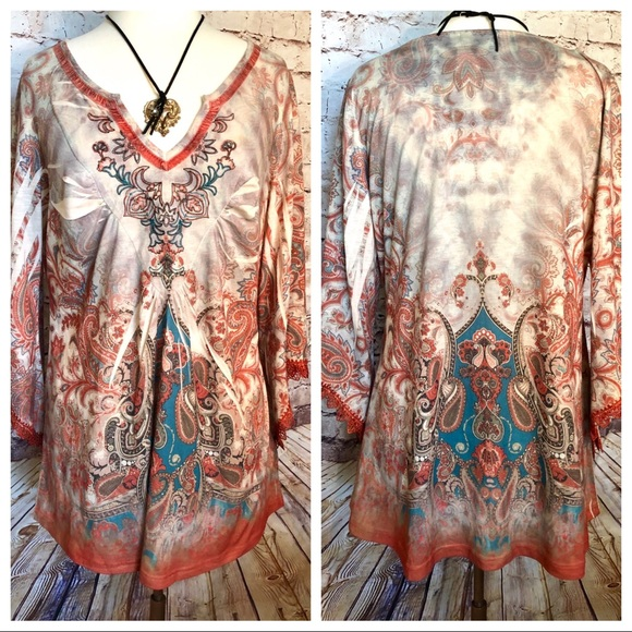 live and let live Tops - Boho tunic top